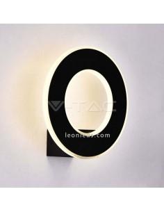 Aplique LED de pared de diseño moderno 8227 IP20 con Luz Cálida Vtac de color negro circular | LeonLeds Iluminación