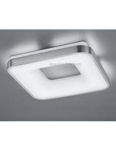 Plafón de LED cuadrado niquel mate y difusor acrílico para instalar en superficie en techo para interior | LeonLeds Iluminación