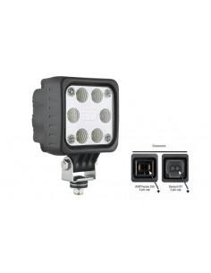 Faro Cuadrado LED Con Conector 12-24V Lente Transparente