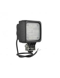 Faro Cuadrado LED Con Cable 12-24V Lente Opaca
