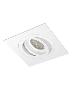 Aro Empotrable BPM Mini Catli 4211 Caudrado Blanco para Bombilla LED GU10 o MR16 | LeonLeds