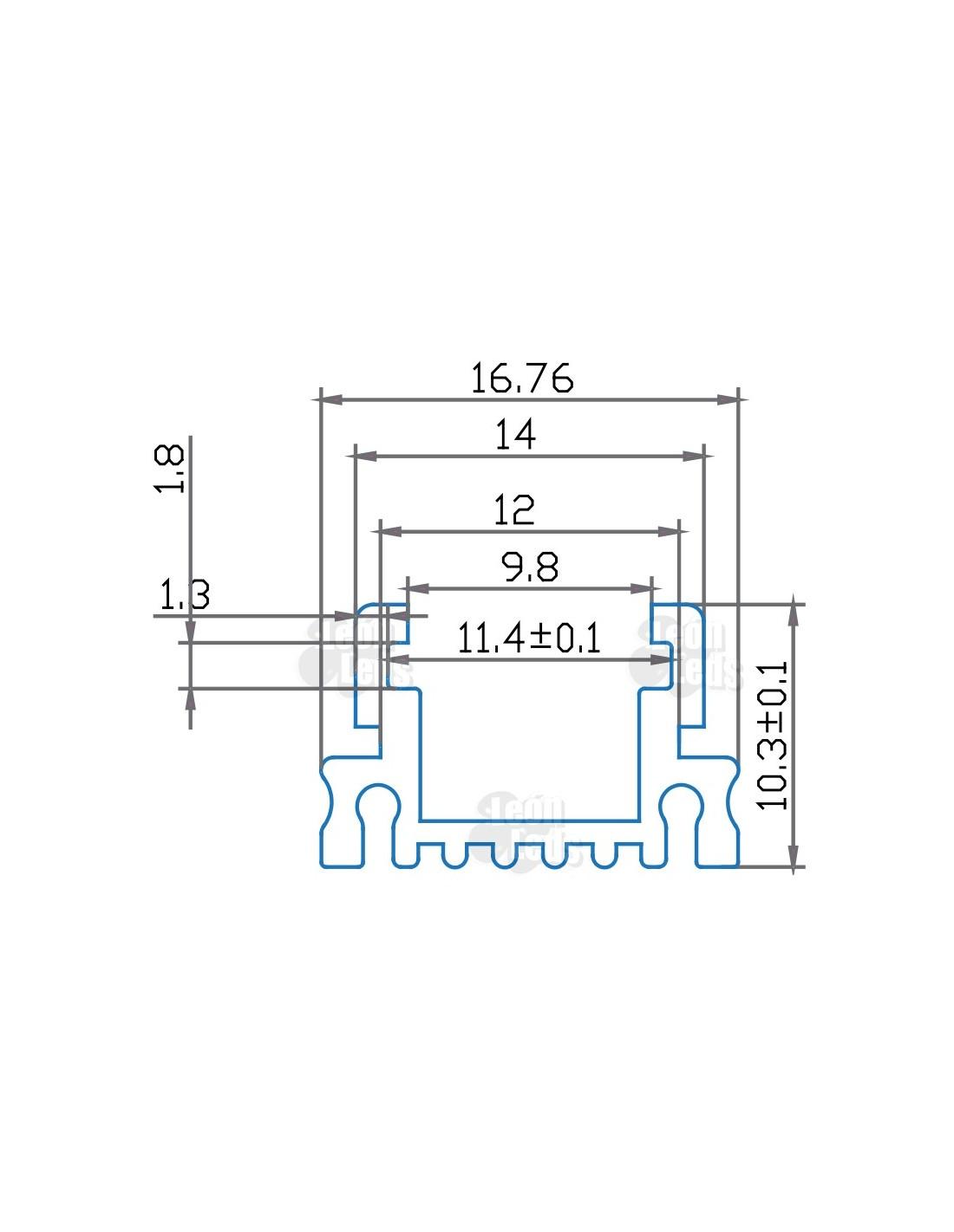 Perfil aluminio cuadrado para tira led - Perfil cuadrado aluminio ...