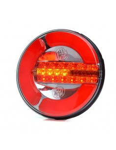 Piloto Trasero Redondo LED 3 Funciones 12 y 24 Voltios Homologado Intermitente Progresiva | LeonLeds