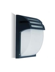 Aplique de Exterior Aluminio Negro mate Cristal Vtac V-tac 7076 Decorativo | LeonLeds