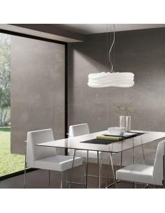 Lámpara de Techo serie Mediterráneo Mantra 37Cm de diámetro regulable en altura olas cristal metal   LeonLeds