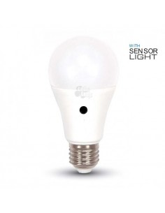 Bombilla Led E27 A60 -9W- Sensor de luz