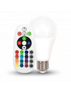 Bombilla Led  E27 A60 -6W- RGB+W Remote