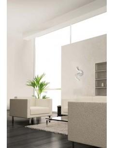 Aplique Pared interior 4985 LED 5000 Dimmable Intensidad regulable serie NUR 10W 3000K 850Lm Forma de Lazo Cromo Plata | LeonLed