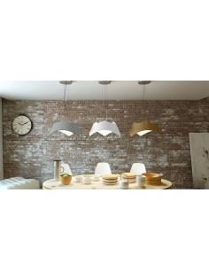 Lámpara de Techo Colgante 4812 LED Regulable en altura 4812 Mantra serie Maui de cemento cromo   LeonLeds