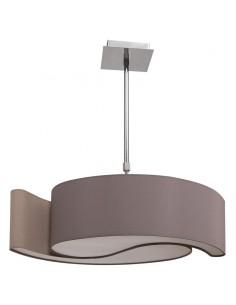 Lámpara de Techo Ying-Yang Grande Gris Topo Cromo  035897128  Lagrimas pequeña   LeonLeds