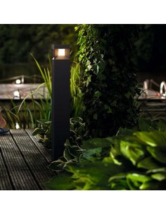 Baliza Exterior Philips LED My Garden Parterre 9W Aluminio Negra | LeonLeds