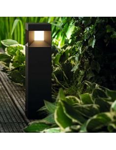 Baliza Sobremuro Negra Philips Parterre Philips LED Exterior Negro | LeonLeds