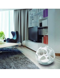Lámpara de Pie Blanca Serie Orgánica 5146 Mantra redonda actual diseño moderno   LeonLeds