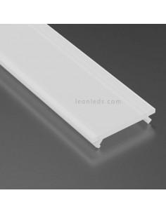 Difusor para perfil de aluminio LED Opal 51% iluminación decorativa basic covers milky | LeonLeds