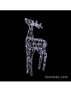 Reno 3D LED Decorativo 90CM Blanco Figura decorativa Navideña Prilux   LeonLeds