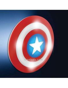 Aplique led Infantil de Pared Capitán America de Marvel -Philips- | LeonLeds