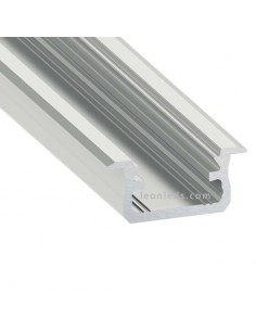 Perfil Empotrable de Aluminio -Tipo B- 2M   LeonLeds