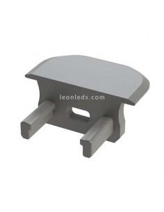 Tapa Final con Agujero para Perfil empotrable de aluminio Tipo B Gris  LeonLeds