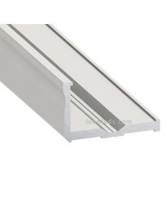 Perfil Aluminio de superficie en esquina -Tipo E- 2M   LeonLeds