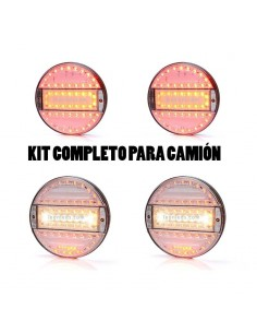 Kit Pilotos Led Redondos Blancos Waspara camion y remolque | LeonLeds