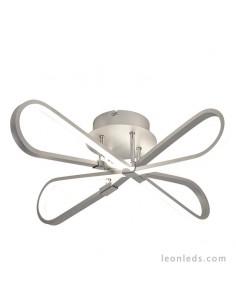 Plafón de Techo serie Bucle de LED 5982 de color Plata y Cromo con un diseño moderno y vanguardista | LeonLeds