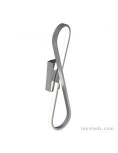 Aplique de pared LED para interior serie Bucle 5983 de color plata y cromo de diseño moderno | LeonLeds