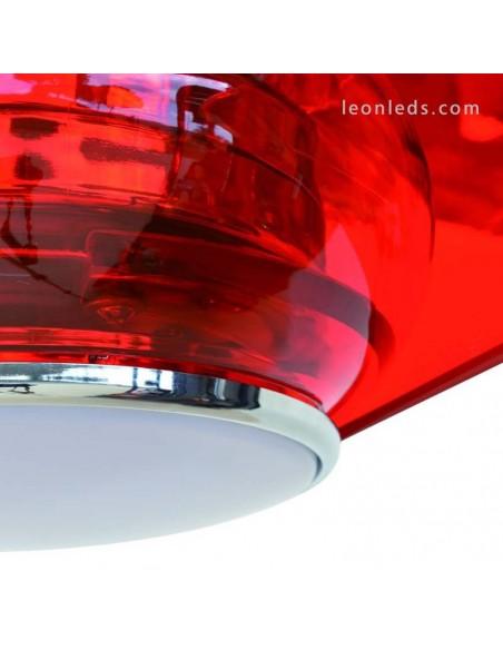 Ventilador de Techo Cefiro Ø127CM 18W Con Luz Led Rojo de Exo Lighting | LeonLeds
