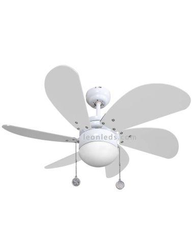 Ventilador de Techo Delfin Ø77 CM E27 Con Luz Led Blanco al mejor precio de internet | LeonLeds