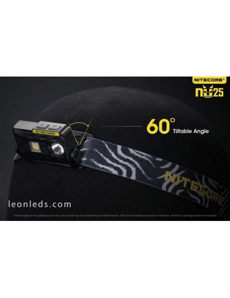 Linterna Frontal de Cabeza LED potente y ligera para running deporte recargable con cinta ajustable de nylon de primera calidad