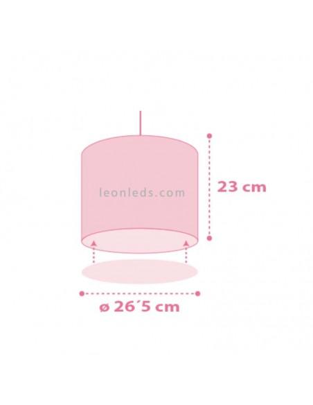 Lámpara Infantil de sobremesa de la serie Colors con circulos rosas y morados de la serie Colors 62001S | LeonLeds