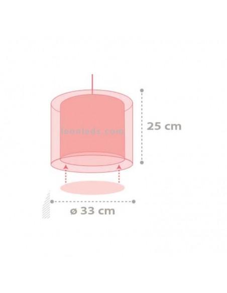Lámpara de Techo Colgante Redonda Infantil 41432 Color Rain Salber Gotas de Agua de colores | LeonLeds Iluminación