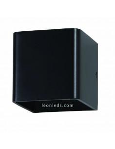 Aplique LED de pared Negro 5W 550Lm Luz Natural IP20 cuadrado de diseño moderno para interior | LeonLeds Iluminación