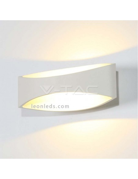 Aplique de pared LED de interior 8232 de luz natural de diseño moderno de color blanco | LeonLeds Iluminación