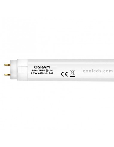 Tubo de LED HF T8 LED 8W 60CM OSRAM LEDVANCE Cristal para balastro electrónico | LeonLeds Iluminación