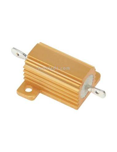 Resistenciapotencia en caja de aluminio 25W 27 ohm para fallo en panel de control   LeonLeds