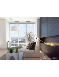 Lámpara de Techo serie Nordica de diseño nordico de color blanca 4928 de mantra blanco roto pantalla redonda | LeonLeds Iluminac