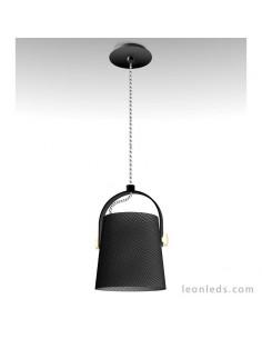 Lámpara de techo colgante reglable en altura de la serie nordica 4927 redonda negro de diseño nordico | LeonLeds Iluminaci
