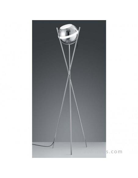 Lámpara LED Pie de Salón Balloon Cromo y Cristal original y de diseño de Trio Lighting   LeónLeds Iluminación