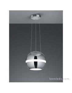 Lámpara Colgante LED de Techo Balloon Cromo y Cristal 30W de diseño minimalista | LeonLeds Iluminación