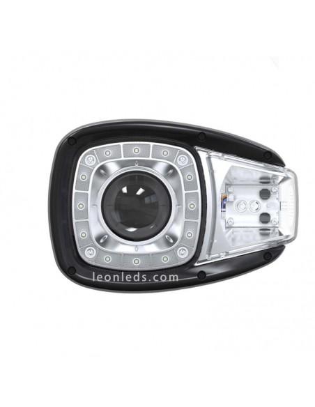 Faro delantero LED Principal para Manitou Jcb Terex Volvo caterpillar Hitachi de cortar y largas homologado soporte trasero | Le