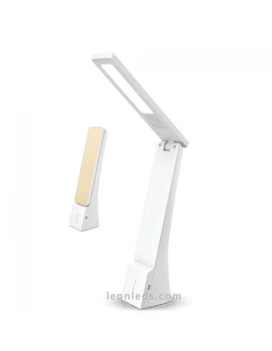 Flexo para estudio LED blanco con una potencia de 4W con 3 tonalidades intensidad regulable | LeonLeds Iluminación