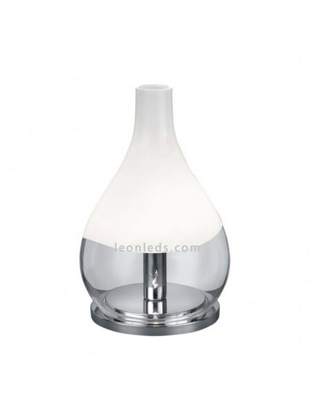 Lámpara de Sobremesa Kingston de cristal y cromo Ø20CM para lugares con encanto | LeonLeds Iluminación
