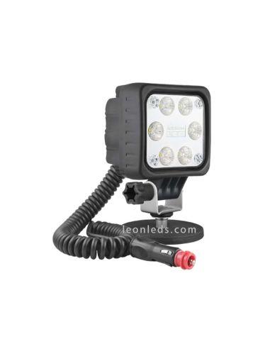 Faro LED magnético para 12V y 24V con conexión de mechero interruptor asa barato de calidad | LeonLeds Iluminación