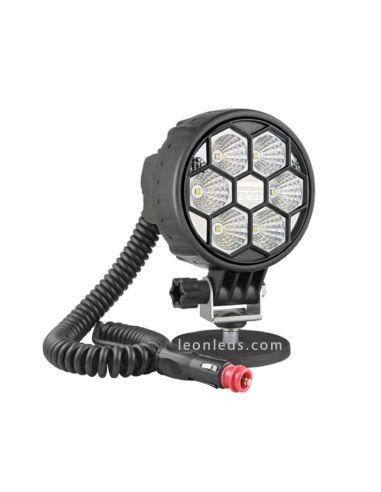 Faro Redondo Led con iman, interruptor y conector de mecheto totalmente homologado de Wesem   LeonLeds Iluminación