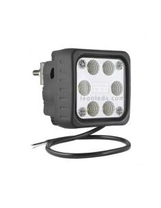 Faro Cuadrado LED de Trabajo con soporte Trasero 12-24V al mejor precio | LeonLeds Iluminación