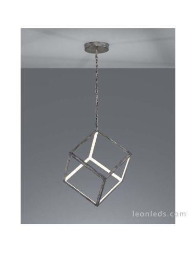 Lámpara de Techo LED serie Dice cuadrada de 19W metalica de color gris antiguo | LeonLeds Iluminación