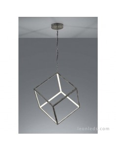 Lámpara de techo LED de un cuadrado en 3d de color gris antiguo de diseño moderno serie Dice | LeonLeds Iluminación