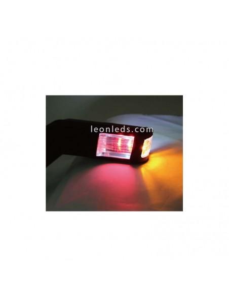 Cuerno LED 3 funciones luz ambar blanca y roja para camiones con tulipa trasnparente incolora | LeonLeds Iluminación