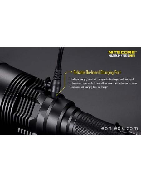 Nitecore MH41 con baterias, cargador y funda textil con 5 años de garantía | LeonLeds Iluminación