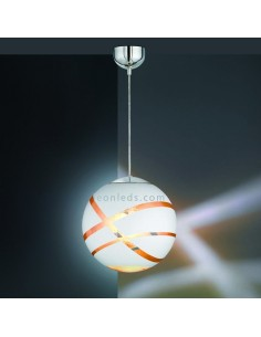 Lámpara de techo colgante serie Faro de color blanco, oro, cromo con un diámetro de 50Cm de diseño moderno | LeonLeds Iluminació